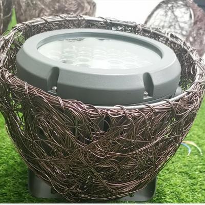 仿真鸟窝灯挂树装饰鸟巢-铝丝鸟巢