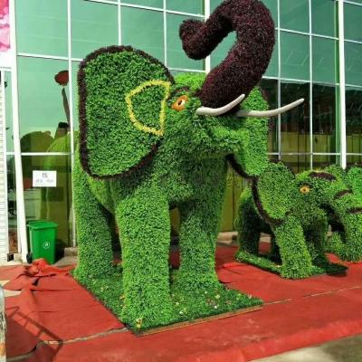 仿真绿雕-大象